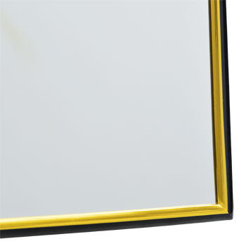 Decorative Mirror with Back and Gold Plastic Frame, 11x14""