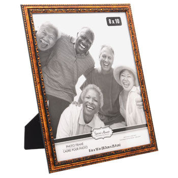 Classic Carved Inner-Edge Wood-Look Plastic Photo Frame, 8x10""