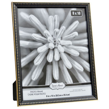 Art Deco Black and Gold Plastic Photo Frame, 8x10""