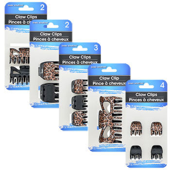 Basic Solutions Animal-Print Claw Clips (Set of 5)