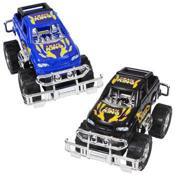Plastic Toy Monster Truck, 5 in.