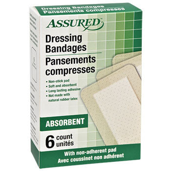 Assured Large Dressing Bandages, 6-ct. Boxes