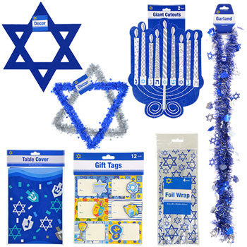 Assorted Hanukkah Party Accessories (Set of 7)