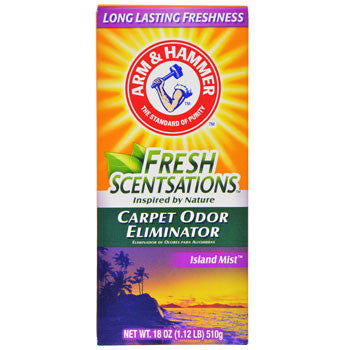 Arm & Hammer Fresh Scentsations Island Mist Carpet Odor Eliminator, 18-oz. Box