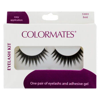 Colormates Bold False Eyelashes with Adhesive