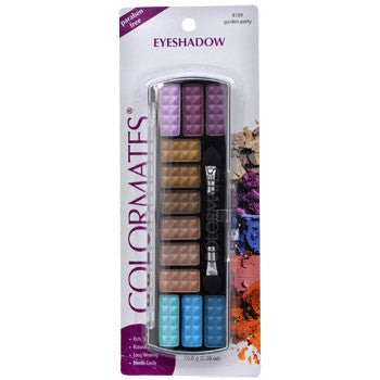 12-Color Colormates Garden Party Eyeshadow Palette with Applicator