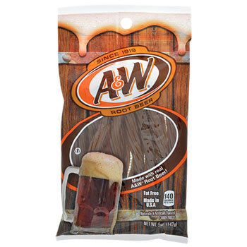 A&W Root Beer Flavored Licorice Twists, 5-oz. Pack