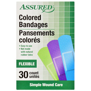 Assured Neon Colored Bandages, 30-ct. Box