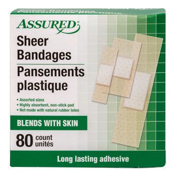 Assured Assorted Sheer Bandages, 80-ct. Box