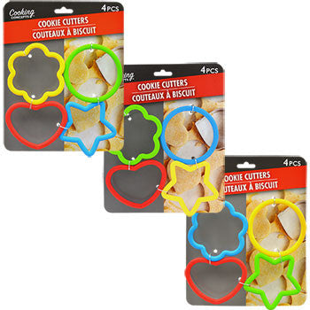 Cooking Concepts Plastic Cookie Cutters, 4-ct. Pack