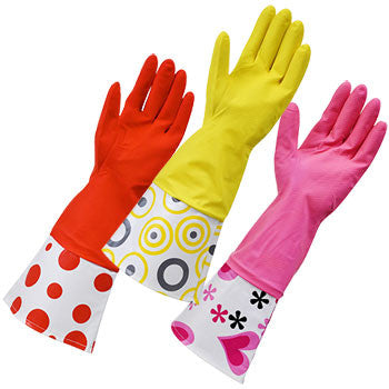 Brillo Basics Fashion Long-Cuff Reusable Latex Gloves