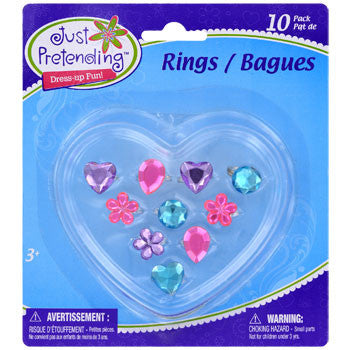 Just Pretending Kids Plastic Costume Jewelry Rings, 10-ct. Pack