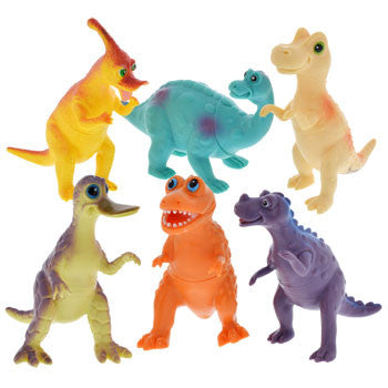 Colorful Plastic Toy Dinosaurs