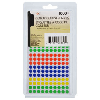 Jot Color Coding Label Stickers, 1,000-ct. Pack