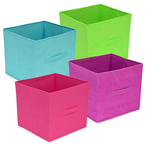 Essentials Brightly Colored Collapsible Storage Container with Handle, 11 in.