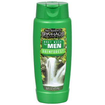 Spa Haus Rainforest Body Wash for Men, 16-oz. Bottle