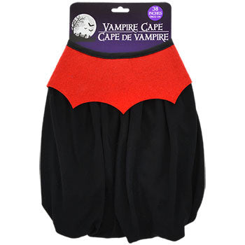 Black Polyester Kid-Sized Vampire Cape, 38 in.