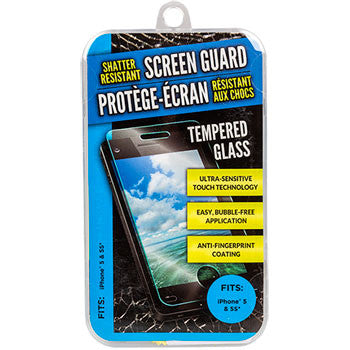 Glass Shatter-Resistant Smartphone Screen Guard - Fits iPhone 5 and 5s