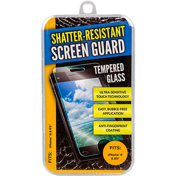 Glass Shatter-Resistant Smartphone Screen Guards - Fits iPhone 6 and 6s