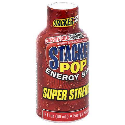 Stacker Pop Super Strength Cherry Cola Energy Shot, 2 oz.