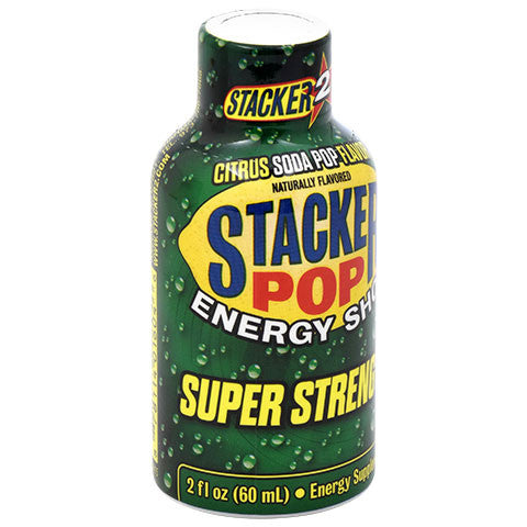 Stacker Pop Super Strength Citrus-Flavor Energy Shot, 2 oz.