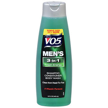 Alberto VO5 Men's 3-in-1 Fresh Energy Shampoo, Conditioner, & Body Wash, 15 oz.