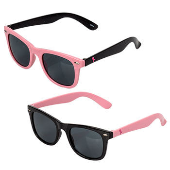 Pink and Black Breast Cancer Awareness Sunglasses (Set of 2)
