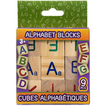 Alphabet Wood Blocks, 9-pc. Sets