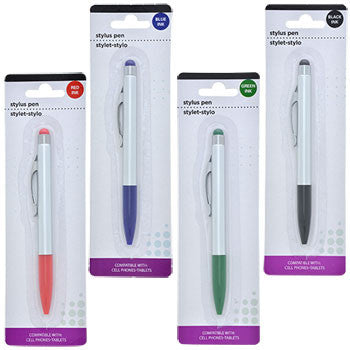 2-in-1 Stylus Pens with Colored Ink