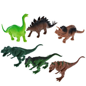 Plastic Roaring Toy Dinosaurs (Set of 6)