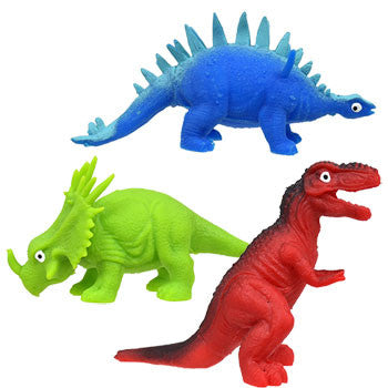 Plastic Brightly Colored Toy Dinosaurs (Set of 3)
