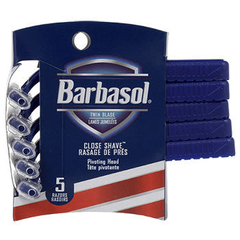 Barbasol Twin-Blade Razors, 5-ct. Pack