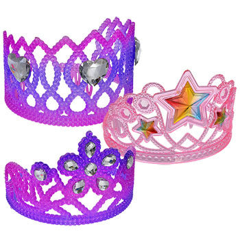 Colorful Plastic Tiaras with Plastic Gems