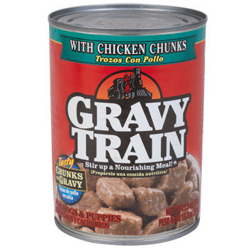 Gravy Train Dog Food with Chicken Chunks in Gravy, 13.2-oz. Can