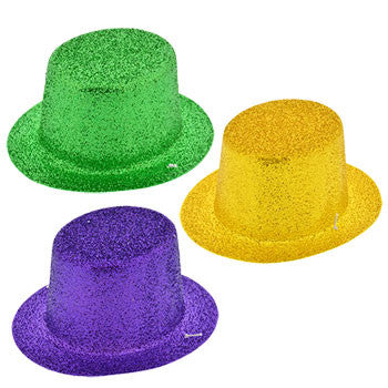 Glittery Plastic Mini Mardi Gras Party Hats, 3-ct. Packs