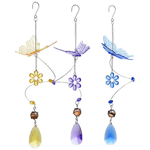 Garden Collection Acrylic Hanging Butterfly Decoration, 15 in.