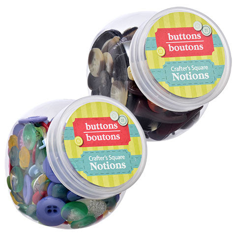 Crafter's Square Craft Button Jars, 3.5 oz.