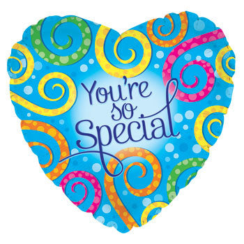 """You're So Special"" Heart-Shaped Foil Balloon, 18"""