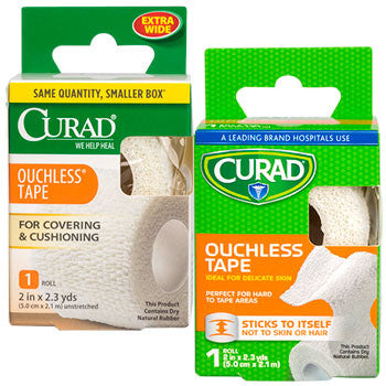 Curad Ouchless Medical Tape, 2.3-yd. Roll