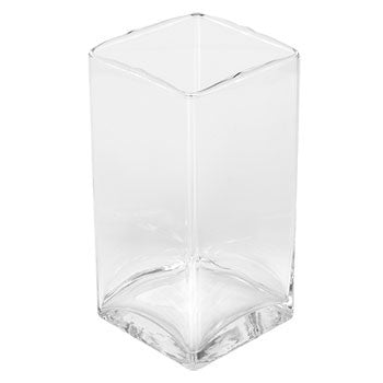 Brand-Name Clear Glass Square Column Vase, 6 in.