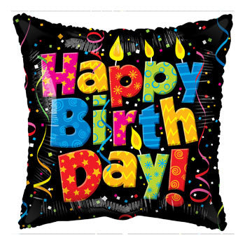 """You're How Old?"" Birthday Candle Square Foil Balloon, 18"""