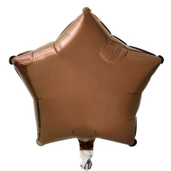 Brown Star Foil Balloon, 18""