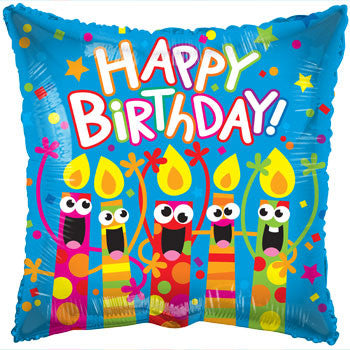 """Happy Birthday"" Singing Candles Foil Balloon, 18-in."