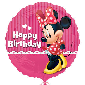 """Happy Birthday"" Minnie Foil Balloon, 18"""