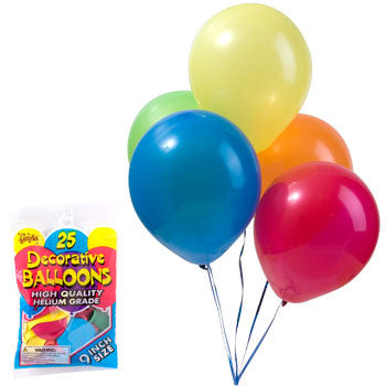 Gayla Helium-Grade Latex Balloons, 25-ct. Bag