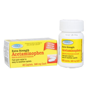 Assured Extra Strength Acetaminophen Caplets, 40 ct.