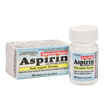 Assured 81mg Enteric-Coated Aspirin, 60 ct.