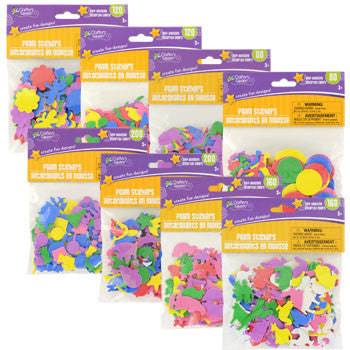 Crafters Square Assorted Self-Adhesive Foam Shapes