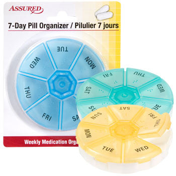 Assured 7-Day Plastic Pill Organizer