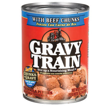 Gravy Train Beef Chunks In Gravy Canned Dog Food, 13.2 oz.